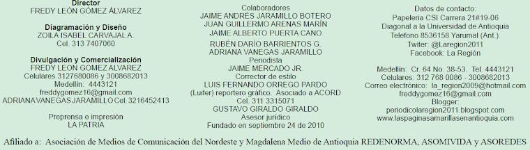 Créditos Periódico La Región