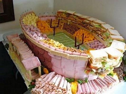 Asombrosos estadios hechos con comida