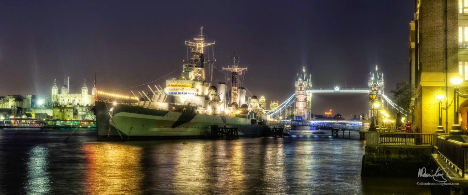 Alistair Cunningham, fotografía HDR, The HMS, Belfast