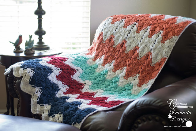 Basket Weave Afghan by Crafting Friends Designs