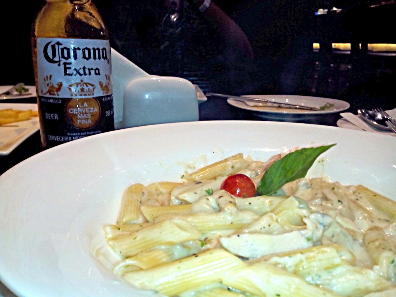 Fascinations and Fixations, Irish House, Corona, Chicken Cream Sauce Penne Pasta