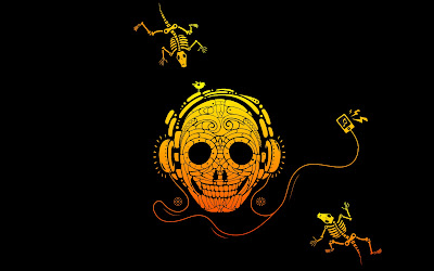 wallpapers and backgrounds music - Skull