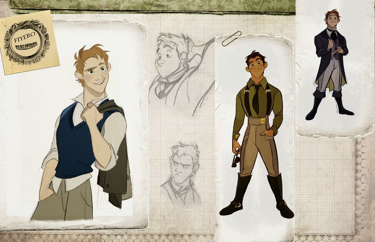 Animation Character Design Artist : Once upon a old animation development art for