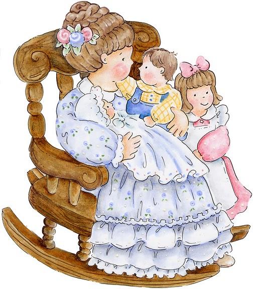 imagens para decoupage de crianças e avós