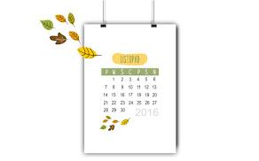 Już dziś pobierz kalendarz na listopad
