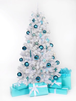 El blanco en la decoraci n de navidad ideas para decorar for Arbol navidad turquesa