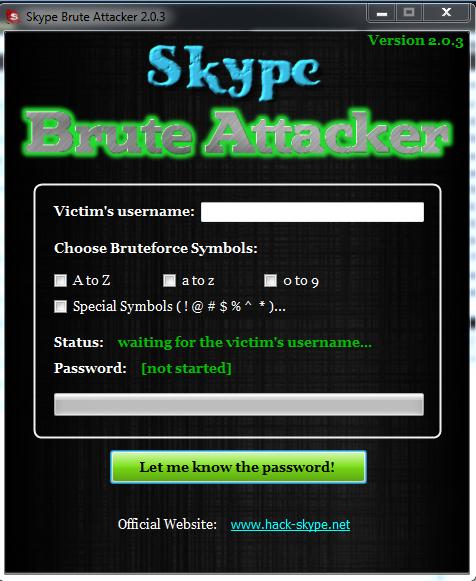 Старт программы. . Большая база паролей позволяет взломать любой логин на.