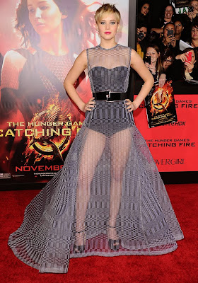 Jennifer Lawrence LA Catching Fire Premiere Dior