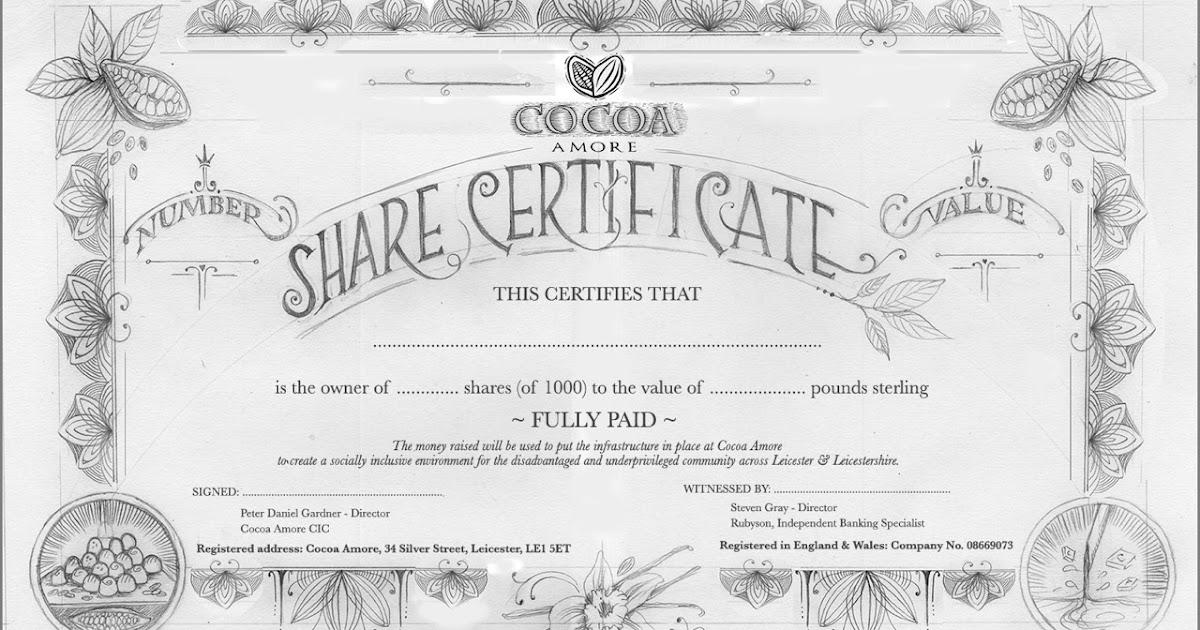 Inkymole I liked the company so much I bought it – Company Share Certificates