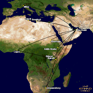Etihad Cargo(EY): Africa Summer 2013 Operations