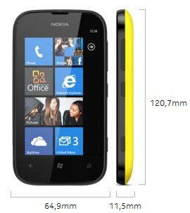 Dimensi Nokia Lumia 510
