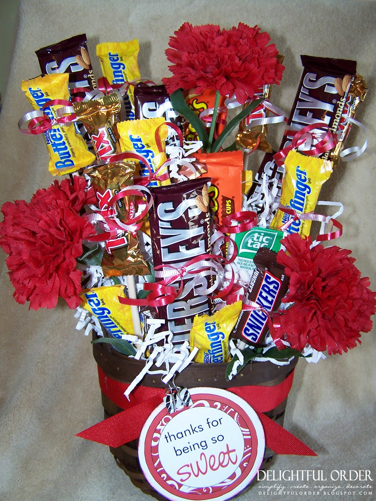 How To Make Chocolate Flower Basket : Delightful order candy bouquet tutorial