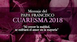 Mensaje del Papa para CUARESMA