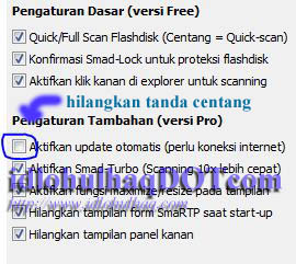 General Setting Smadav, mematikan auto update