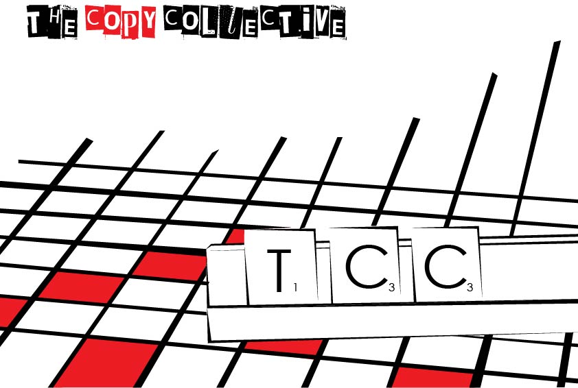 The Copy Collective logo with word grid