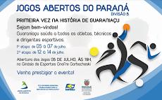 Guaraniaçu - Jogos ABERTOS , primeira VEZ na História