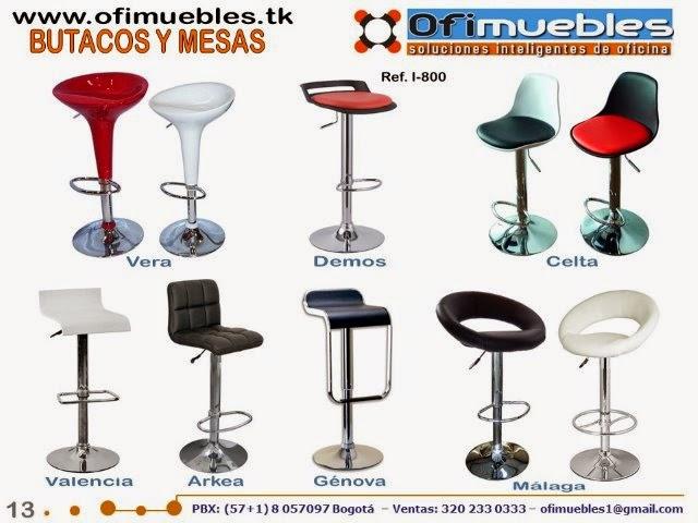 Butacos sillas conferencia y mesas para colectividades for Almacenes de muebles en bogota 12 de octubre