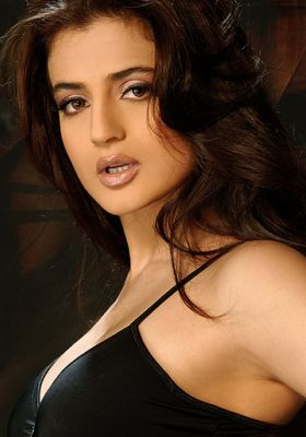 Bollywood actress Ameesha Patel Showing Her Beautiful Cleavage4