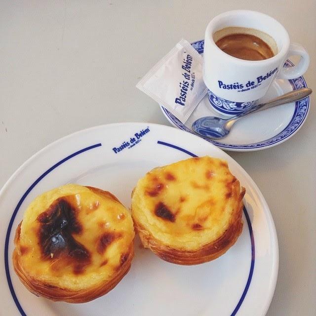 Pastéis de Belém and an espresso, Lisbon