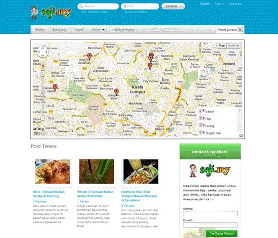 Saji.my - Pencarian Tempat Makan Sedap di Malaysia