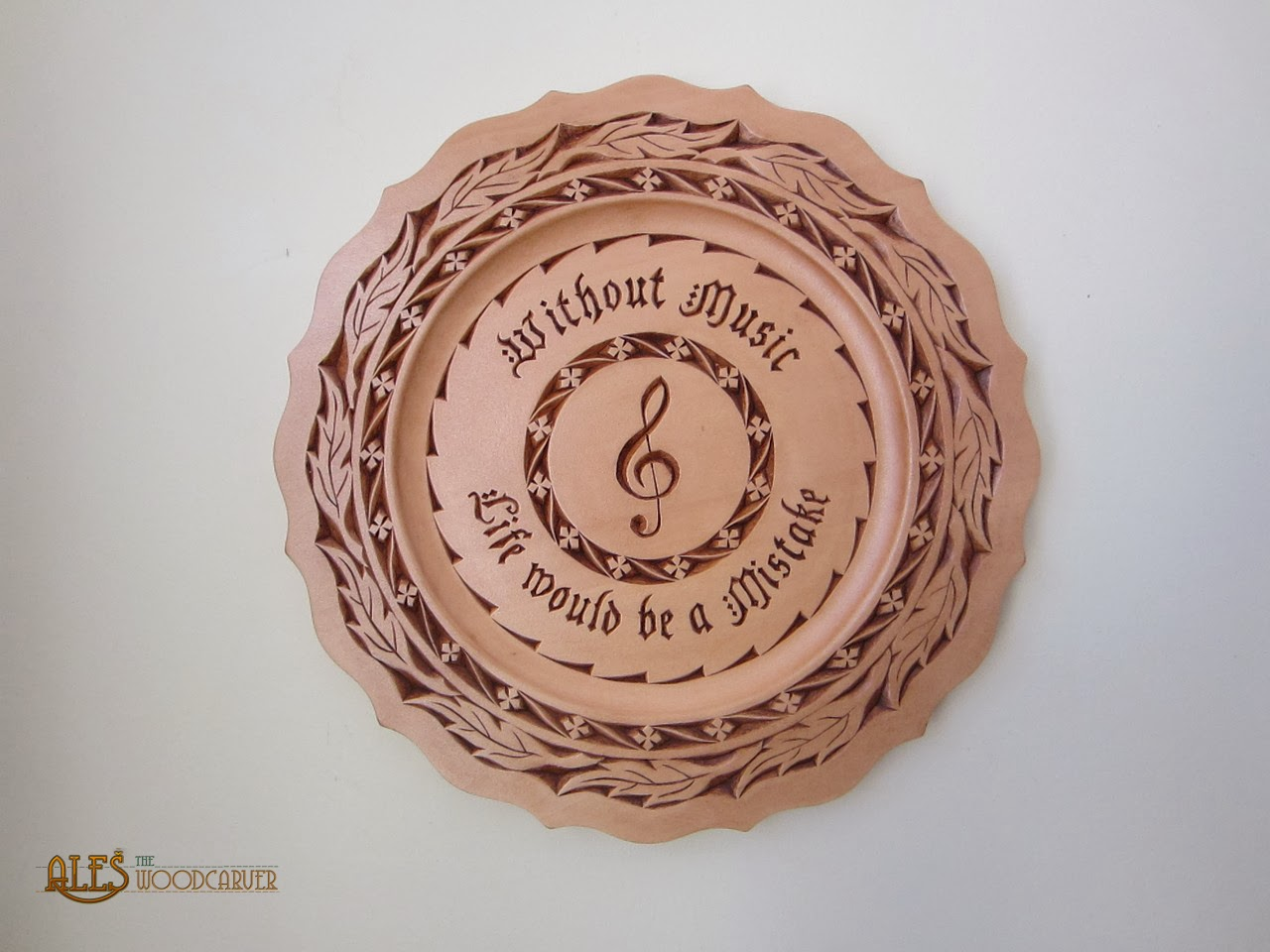 Ales the woodcarver chip carved plate nietzsche music