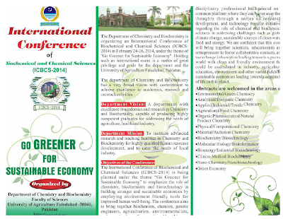 International Conference of Biochemical and Chemical Sciences 2014
