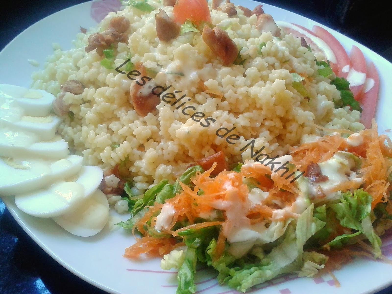les d 233 lices de nakhil salade de p 226 te au poulet