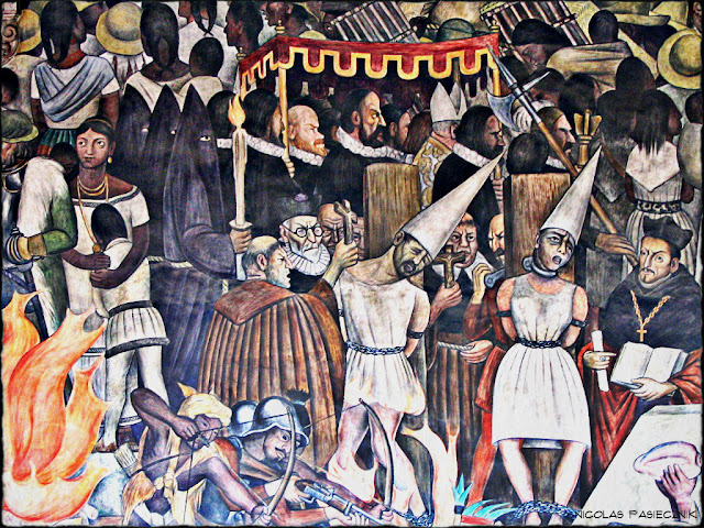 Nicol s pasiecznik fotorreportaje los murales de diego for Diego rivera la conquista mural