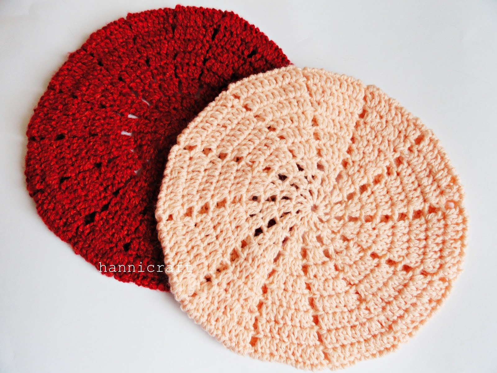 Free Crochet Beanie Beret Pattern : hannicraft: Simple beret crochet pattern