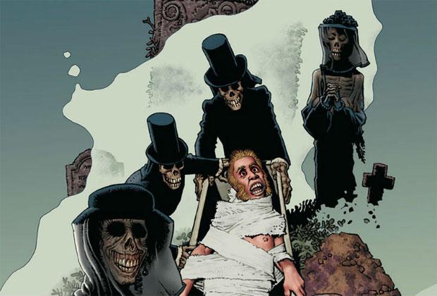 """Viñeta del cómic """"Los Espíritus de los Muertos"""", de Richard Corben"""