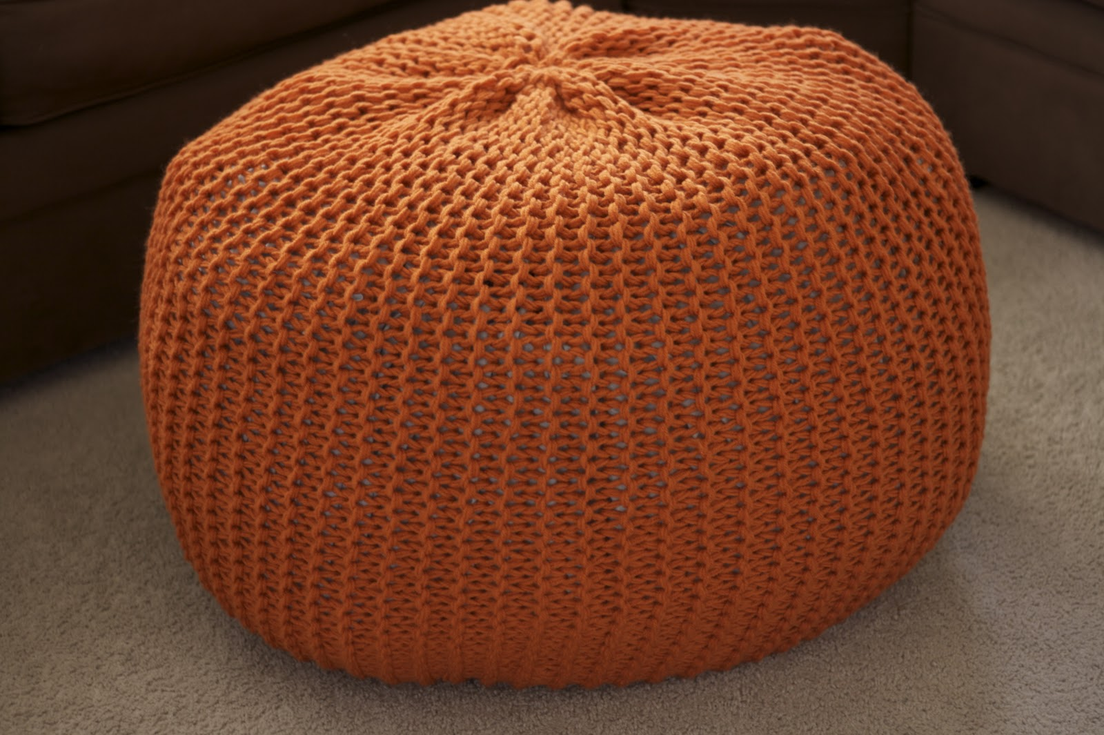 Orange Living Room Accessories Knitted Poufsthe Pinterest Project The Csi Project