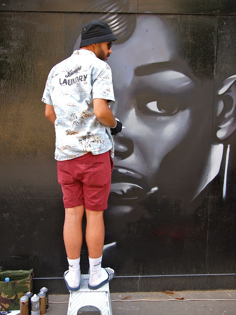 Street artists, Art on a Brixton Street - Josephine Avenue's annual Urban Art festival, July 2015