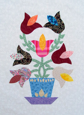Tulip Fun Applique Quilt Pattern