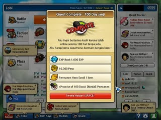 Cheat Lost Saga September Hero Peso Medal Permanen Trik Tips