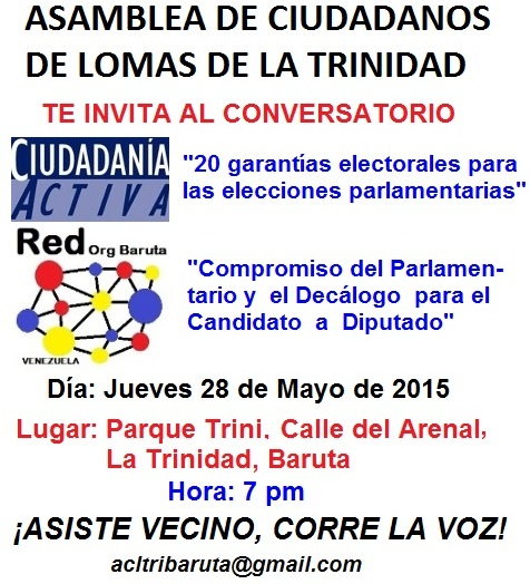 Conversatorio Parque Trini, La Trinidad, 28M, 7PM