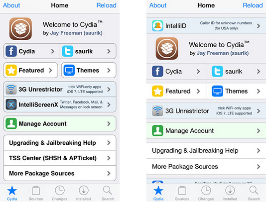 Cydia store updated: It features now a more modern and flat design, as is the trend now. Have a look...