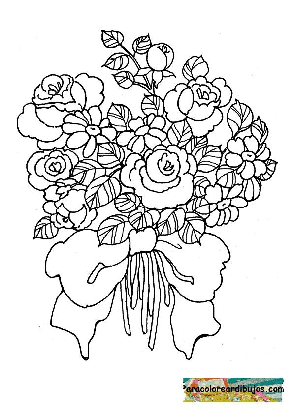 Bouquet Coloring Pages