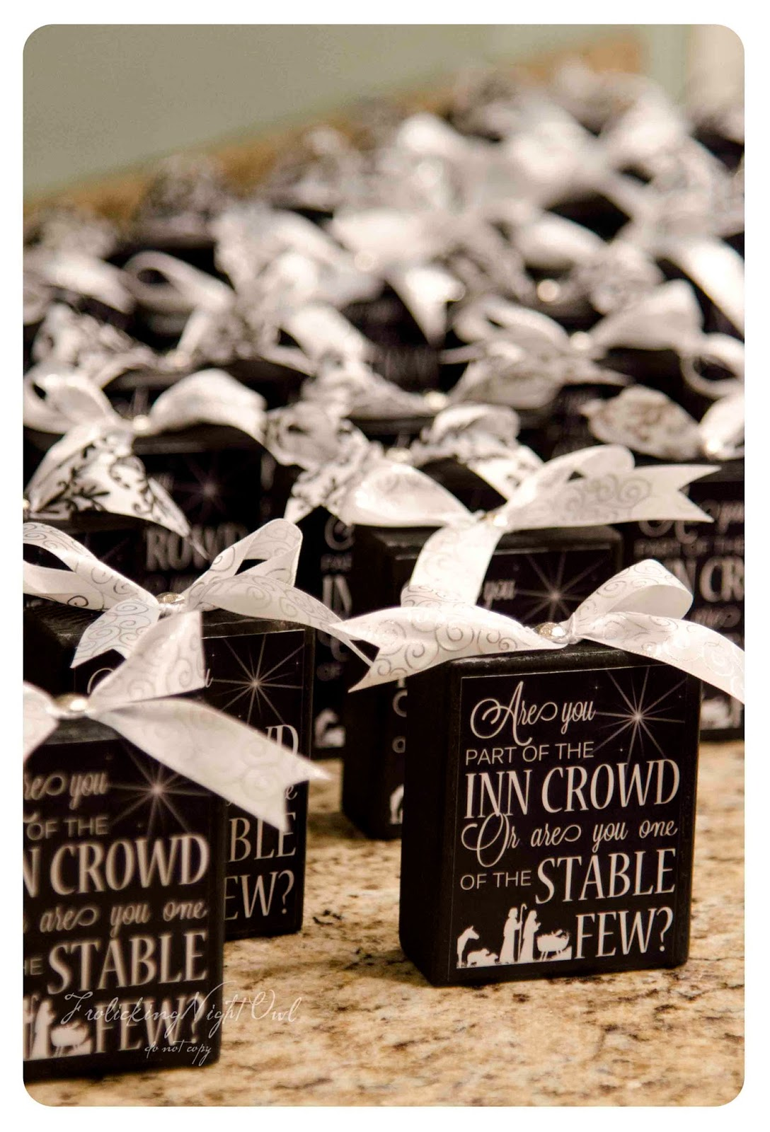 Frolicking Night Owl: Inn Crowd or Stable Few YW Christmas Gift