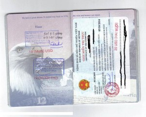 Passport with Stamped Visa Extension