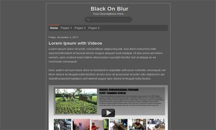 Black On Blur blogger template