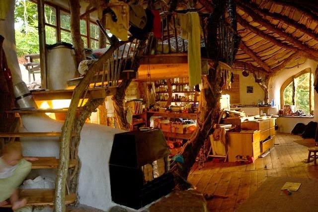 Interior Rumah Bernuansa Alam