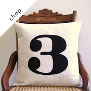 Number pillow cover by SassyStitchesbyLori