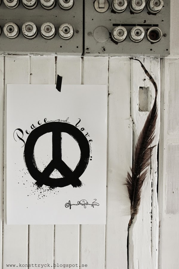 peace artprint, konsttryck, artprints, poster, svartvit tavla, svartvita motiv,