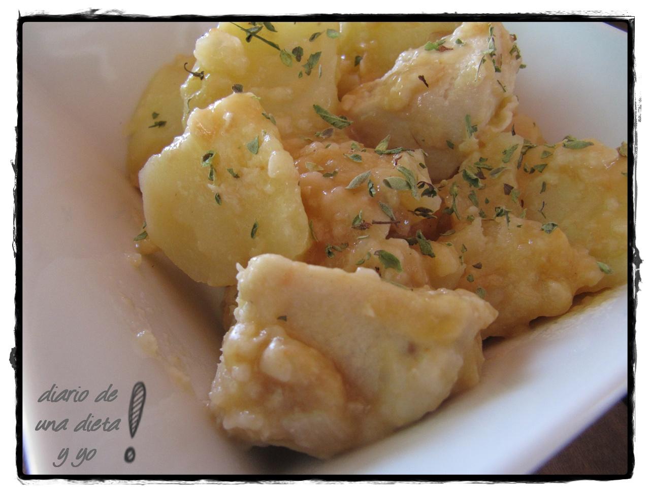 Diario de una dieta y yo emperador estofado con patatas for Cocinar emperador