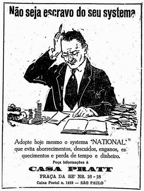 Anúncio de 1924 oferecia alternativa para evitar descuidos, enganos e esquecimentos