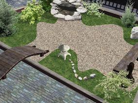 Renders 2d dise o de jardines sobre fotograf a fotos - Plantas para jardin zen ...
