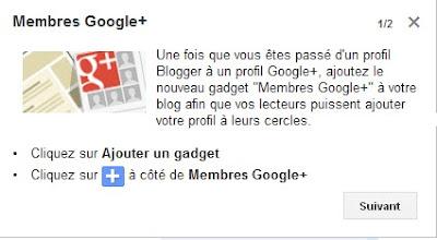 Nouveau Gadget Membre Google Plus