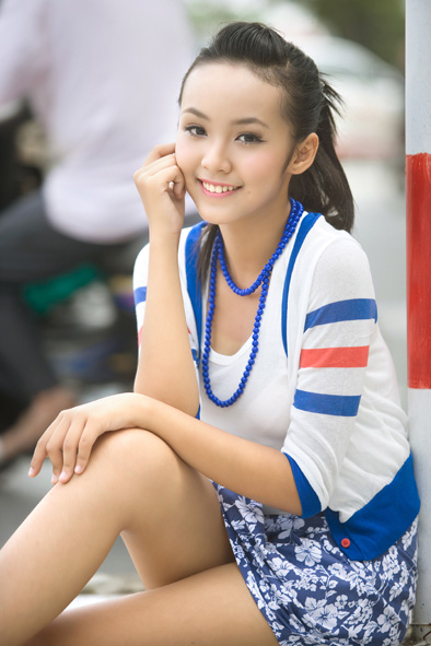Le Hoang Bao Tran cute photo
