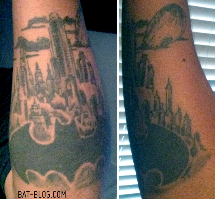 GOTHAM CITY BATMAN TATTOO - Inspired by Jim Lee's Art in HUSH Book