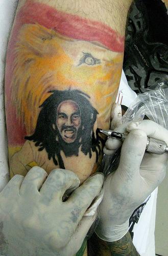 Tatouage Bob Marley Reggae